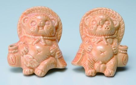 信楽焼 Tanutanu (青、ピンク、オレンジ、緑)