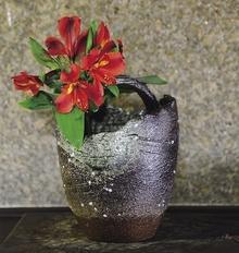 花器 手桶石ハゼ