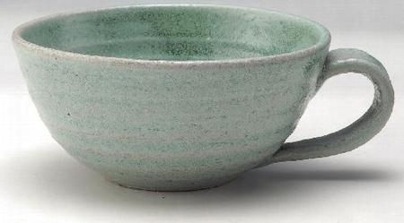 薄緑スープカップ