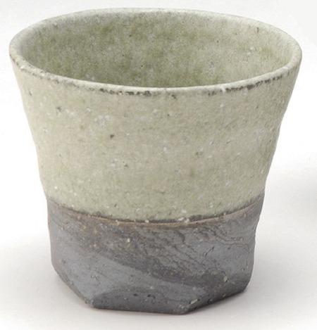 炭化緑彩湯呑