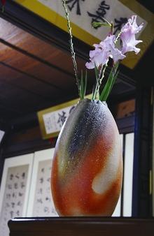 花瓶 紫香楽緋色