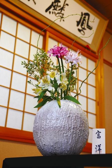 花瓶 雪化粧