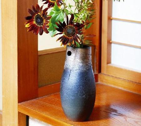 花瓶 金彩投入