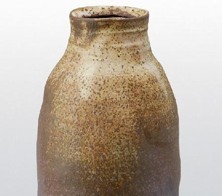 花瓶 鉄粉引 (顕三作)