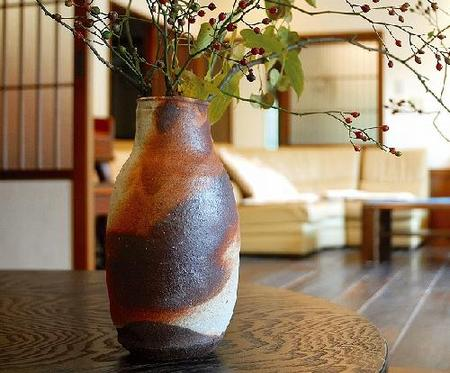 花瓶 緋彩 (顕三作)