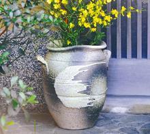 大物花器 耳付砂掛壺