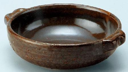 耐熱 黒飴釉グリル鍋(小)