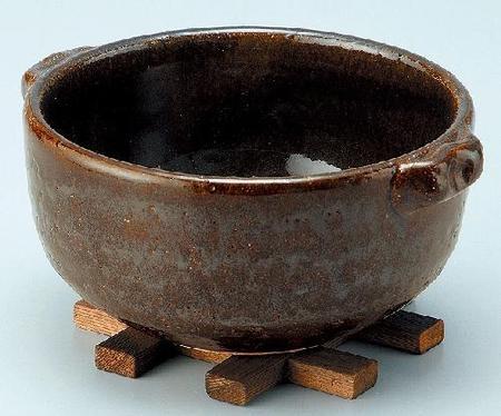 耐熱 黒飴釉グリル鍋(深)