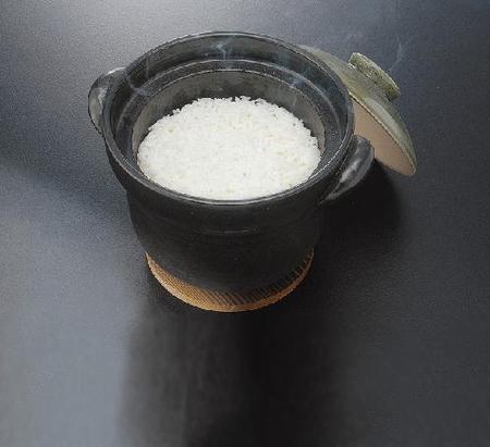 耐熱 黒飴釉ご飯鍋(3合用)