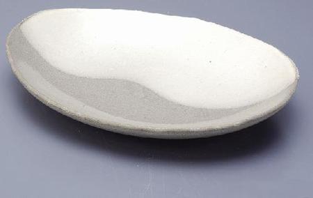 白水晶 楕円皿