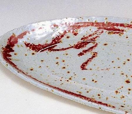 辰砂掛パーティー皿