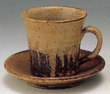 渇き釉コーヒー碗皿