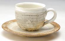 粉引コーヒー碗皿