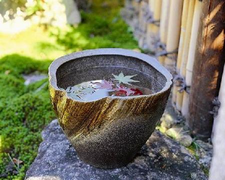 飴釉流し 深水鉢