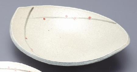 春の宴舟形鉢(大)