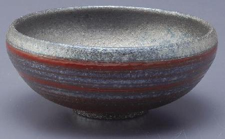 銀彩ライン丸鉢