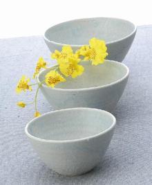 淡藍マルチ鉢(大)
