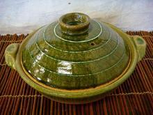 信楽焼 9号鍋 緑釉(ライン)
