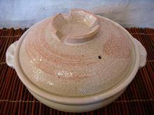 信楽焼 8号鍋 ピンク刷毛