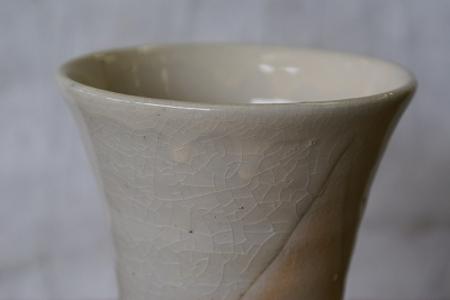 白水晶ビアカップ