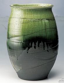 大物花器 古緑窯大壺