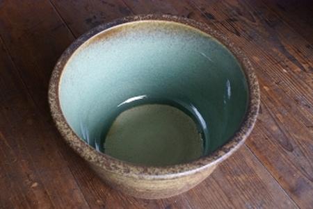 窯肌ひねり水鉢11号