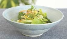 淡藍リム鉢