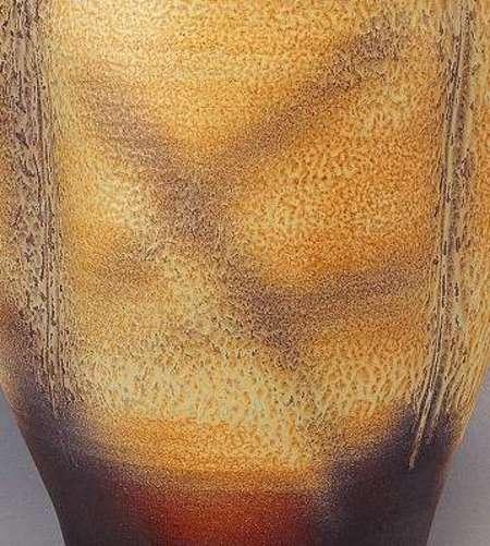 信楽焼 傘立 釉彩広口